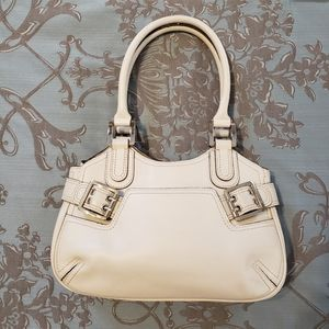 BCBGirls Cream Colored Purse with buckles